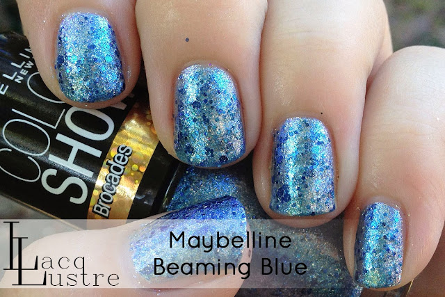 Maybelline Beaming Blue swatch