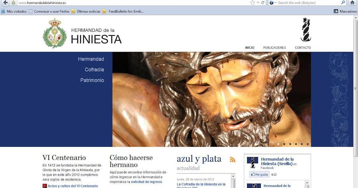 Azul Y Plata Nuevo Sitio Web Oficial De La Hermandad