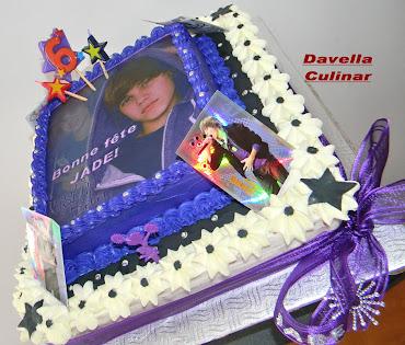 Gâteau d'anniversaire Justin Bieber
