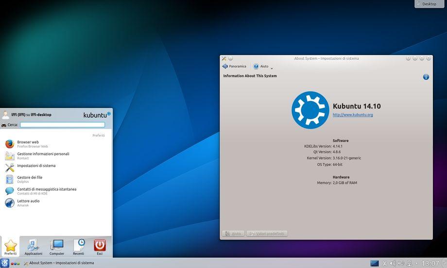 Kubuntu 14.10 Utopic Unicorn