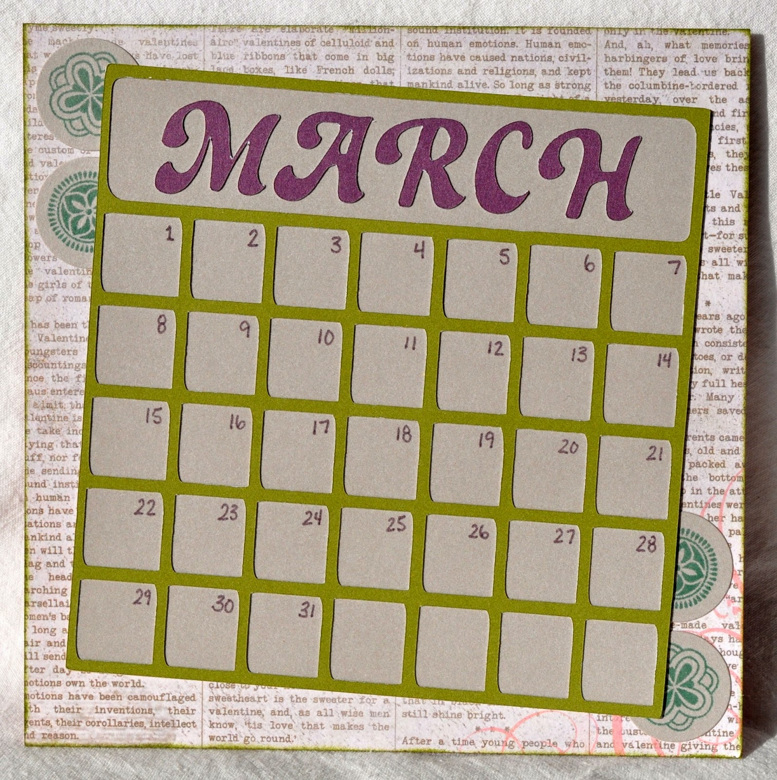 Vmi Calendar May : Dat s my style calendar layout february stamp of