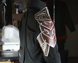 Pauldron prototype for Lord Elrond's costume.