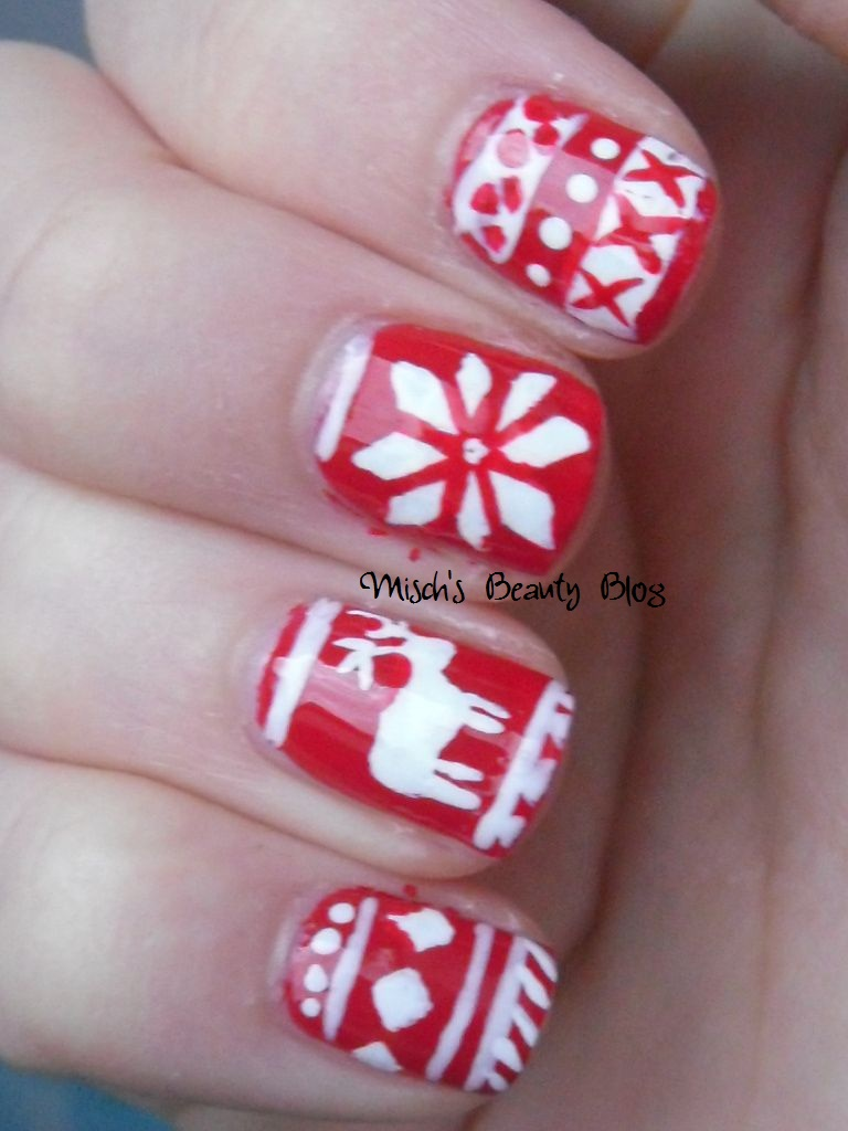 Misch\'s Beauty Blog: NOTD December 4th: Fair Isle Sweater Nail Art