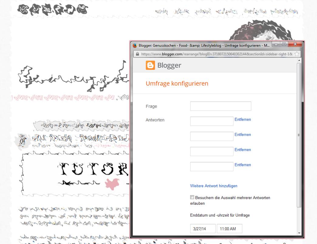 Umfrage Widget in Blogpost einbinden