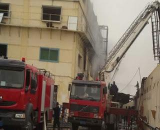 إشعال النيران في مقر حزب الوسط بحي شرق بورسعيد