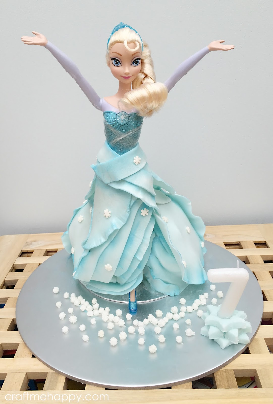 Frozen Themed Elsa Cake Craft Me Happy Frozen Themed