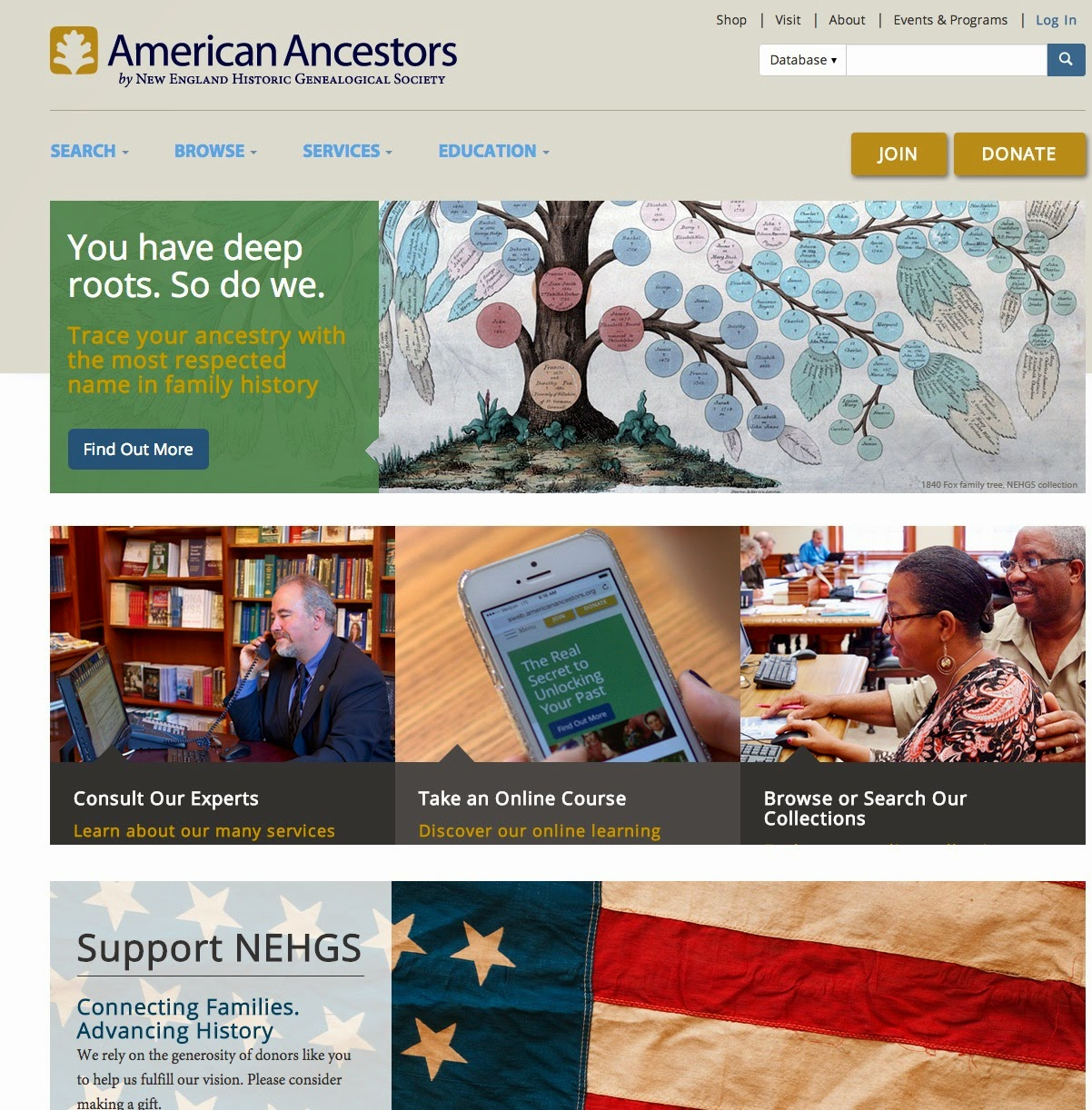 New AmericanAncestors.org Website