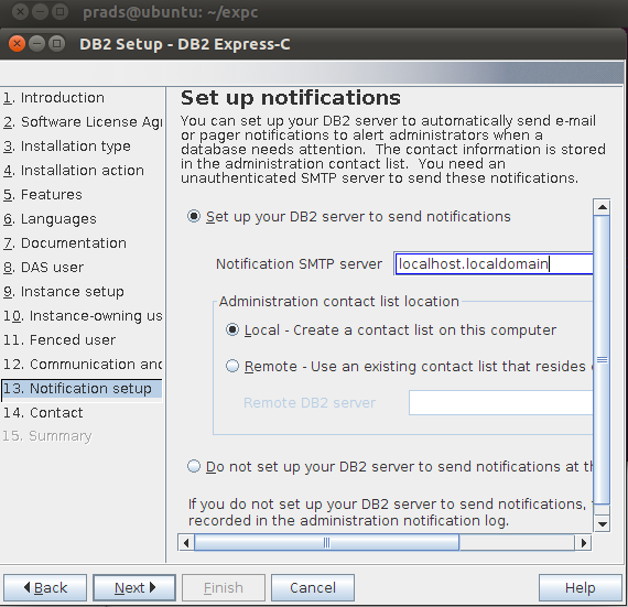 How to install DB2 Express in ubuntu