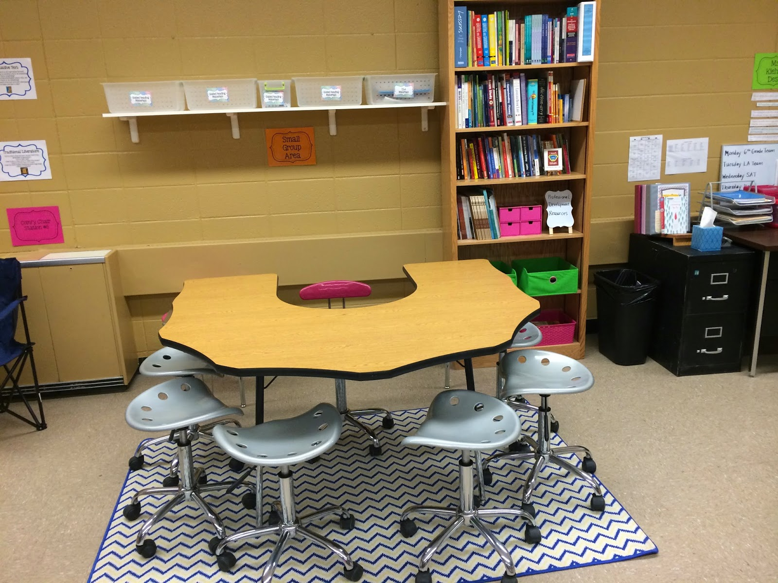 Classroom Literacy Ideas : Middle school teacher to literacy coach organizing a