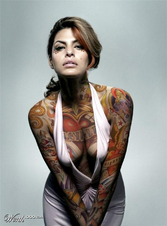 Eva Mendes Tattoojpg