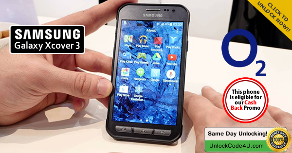 Factory Unlock Code for Samsung Galaxy Xcover 3 from O2
