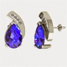 Tanzanite Earrings White Gold