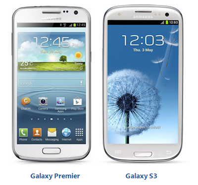 Galaxy Premier I9260 Vs Samsung Galaxy S3
