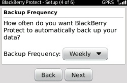 backup frequency