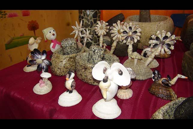 Exposición de artesanos locales 2018.