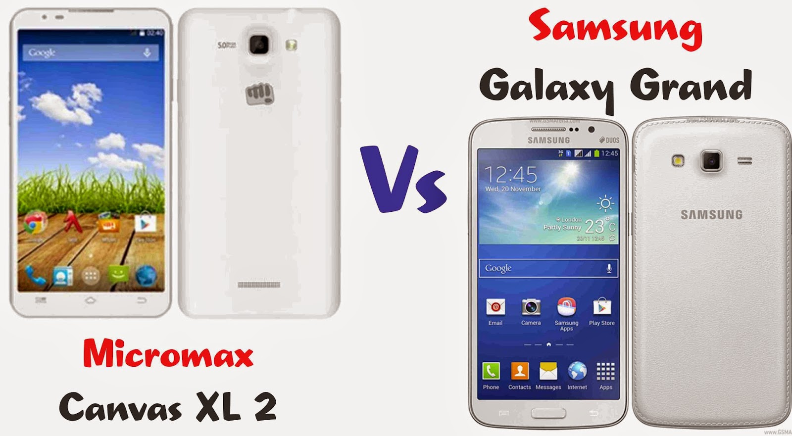 Micromax Canvas XL 2 vs Samsung Galaxy Grand