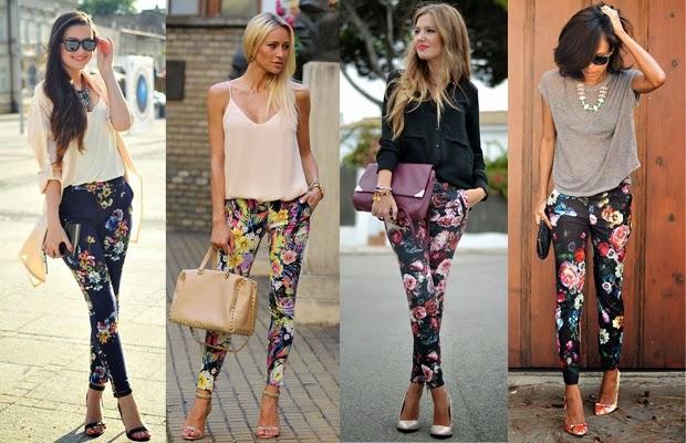 floral, primavera, calças, estampas