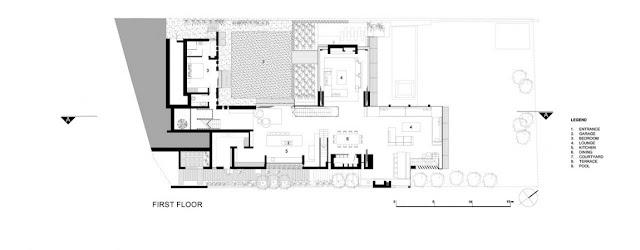 Floor plan of the first floor of Glen House