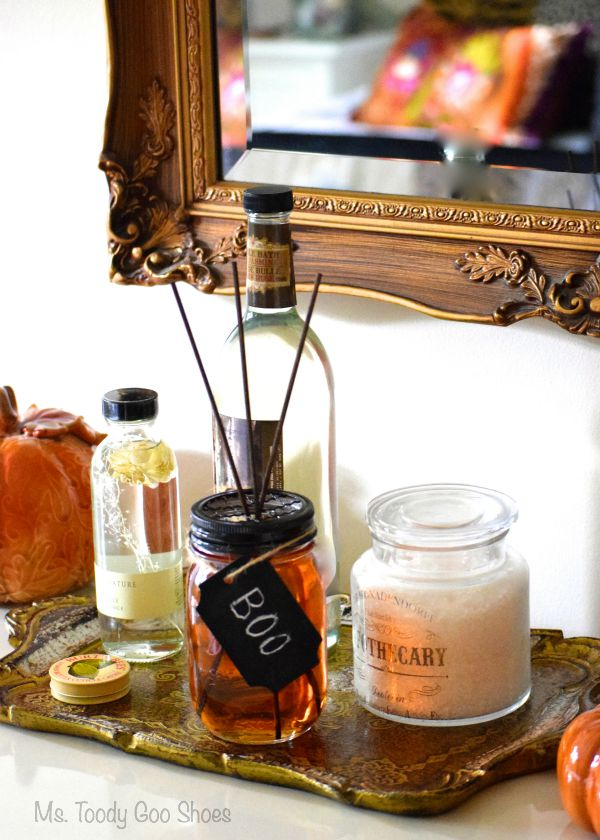 Halloween in a Jar: Pumpkin Spice Diffuser | Ms. Toody Goo Shoes