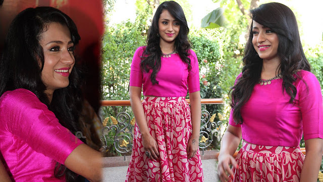 Trisha Latest HD Photos At Nayagi Movie Launch