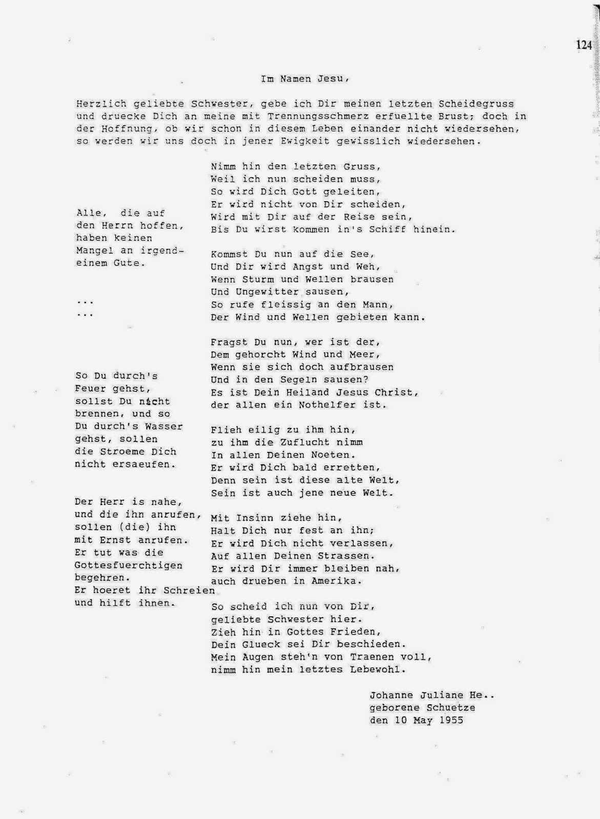 Ancestorpuzzles a poignant farewell from germany the tone of the poem made it sound like an obituary or a eulogy kristyandbryce Gallery