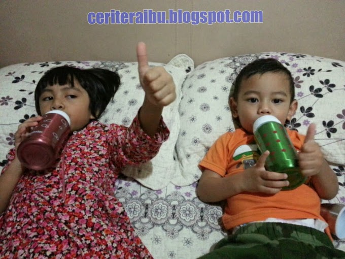 WW37 :: Anak2 Suka Minum Susu Guna Botol Susu Termal