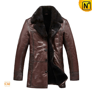 Brown Sheepskin Coat for Men