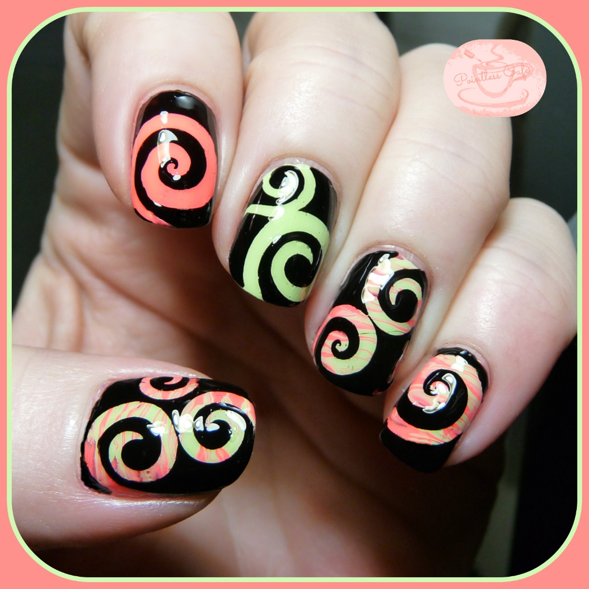 Nail Of The Day Spiral Nail Art With Kbshimmer Swirls Nail Vinyl