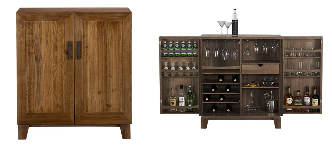 crate and barrel bar cabinet marin by a design snack by linda pakravan it s cocktail