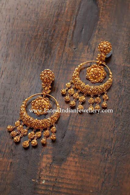 Designer Gold Bali Earrings