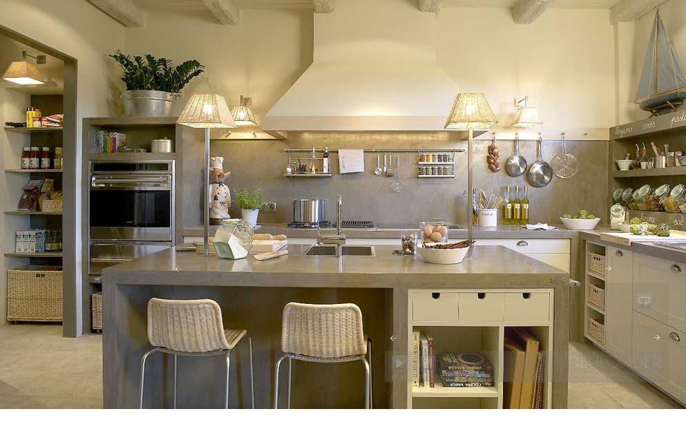 Blanco roto shabby chic vintage cocinas - Cocinas espectaculares modernas ...