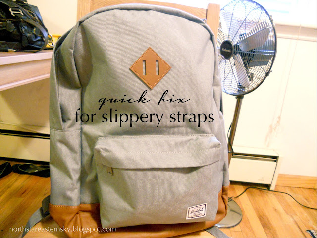 fix slippery backpack stras