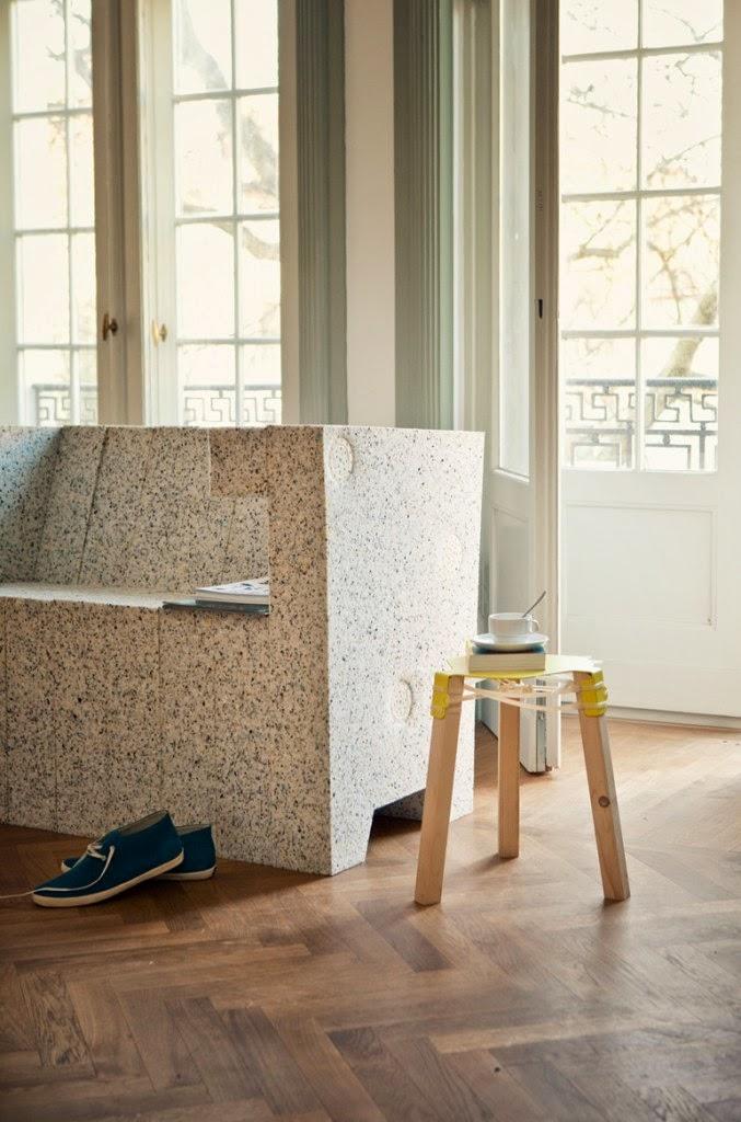 Sillon Sofa con Materiales Reciclados, Muebles Ecoresponsables
