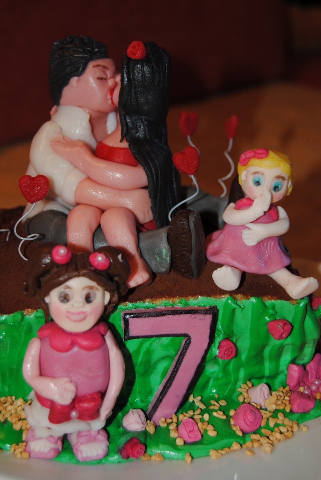 Favorito tutti pazzi per le torte: torta 7°anniversario di matrimonio KW09