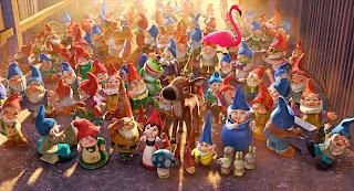 Escena de la película Gnomeo y Julieta