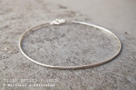 Bracelet rigide en argent Trois Petits Points