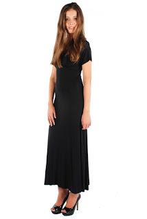 afrodit uzun siyah elbise modeli