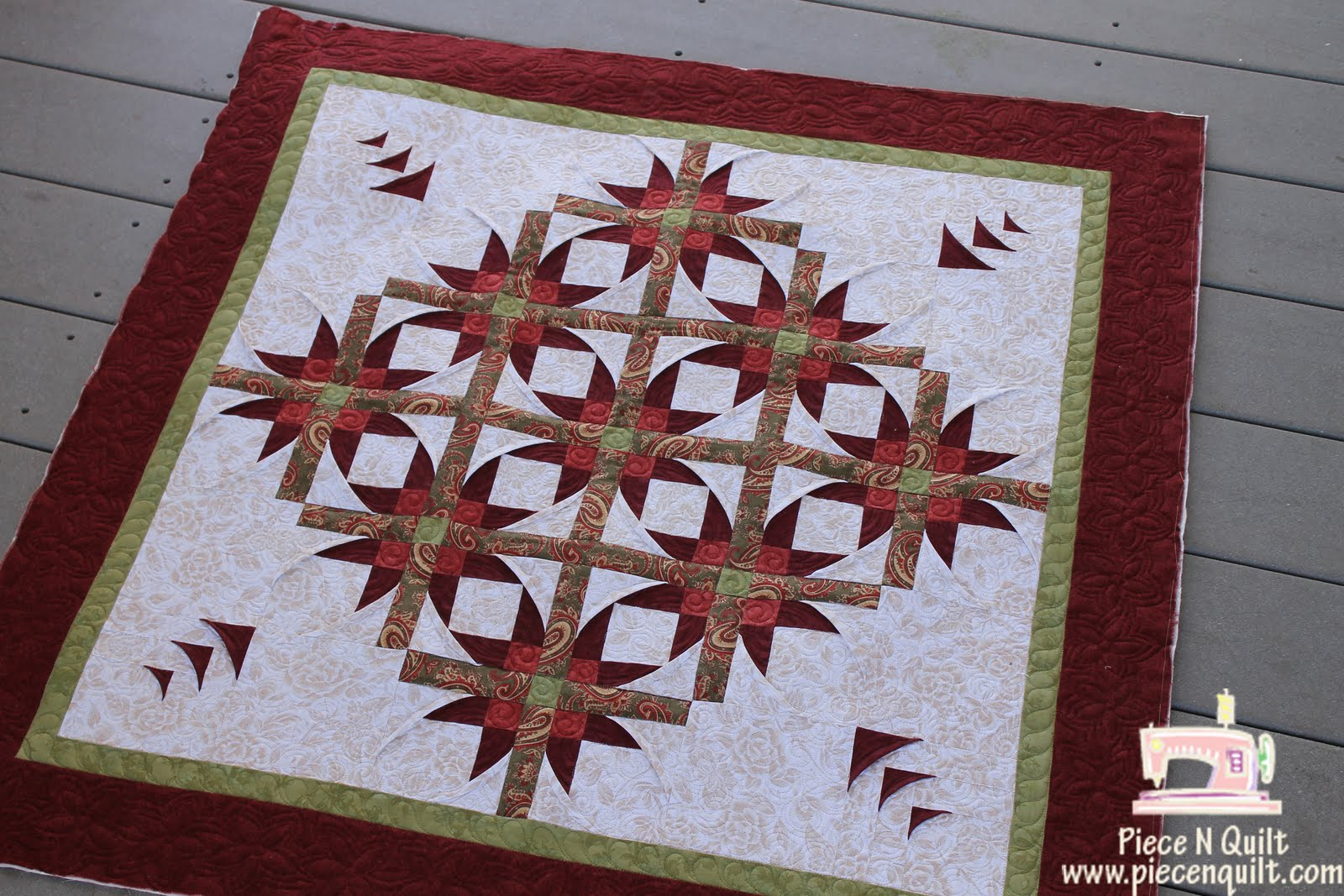 Piece N Quilt: Mexican Star {Machine Quilting}