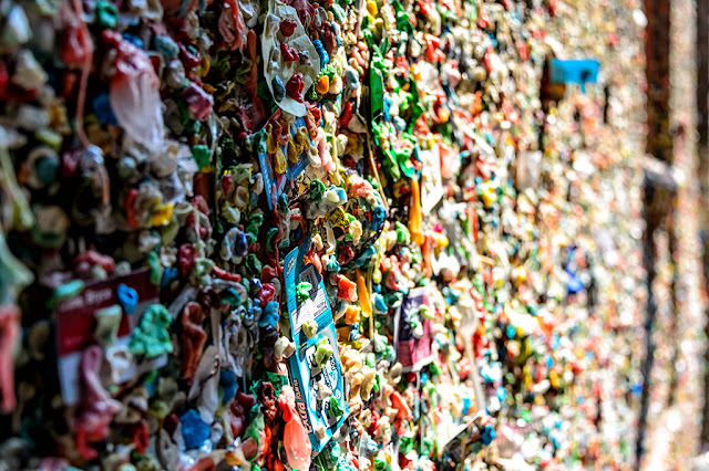 Market Theater Gum Wall in Seattle, Washington