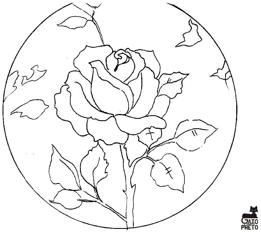 Dibujos y plantillas para imprimir dibujos de flores - Plantillas para dibujar en la pared ...