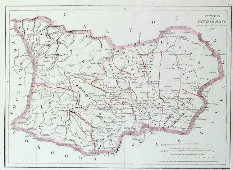 Montesdetoledo mapa de la provincia de ciudad real 1853 - Plano de ciudad real ...