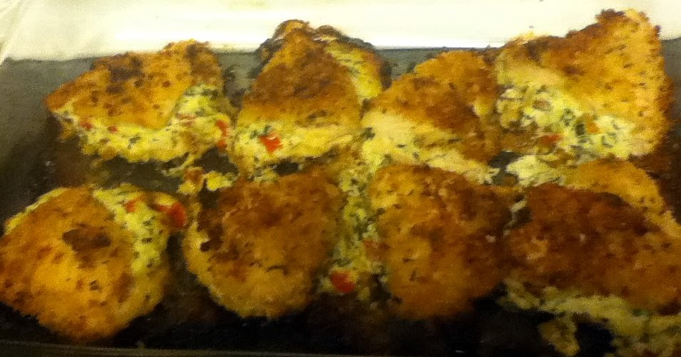 ... Such As It Is!: Panko Crusted Stuffed Chicken and Cheddar Bay Biscuits