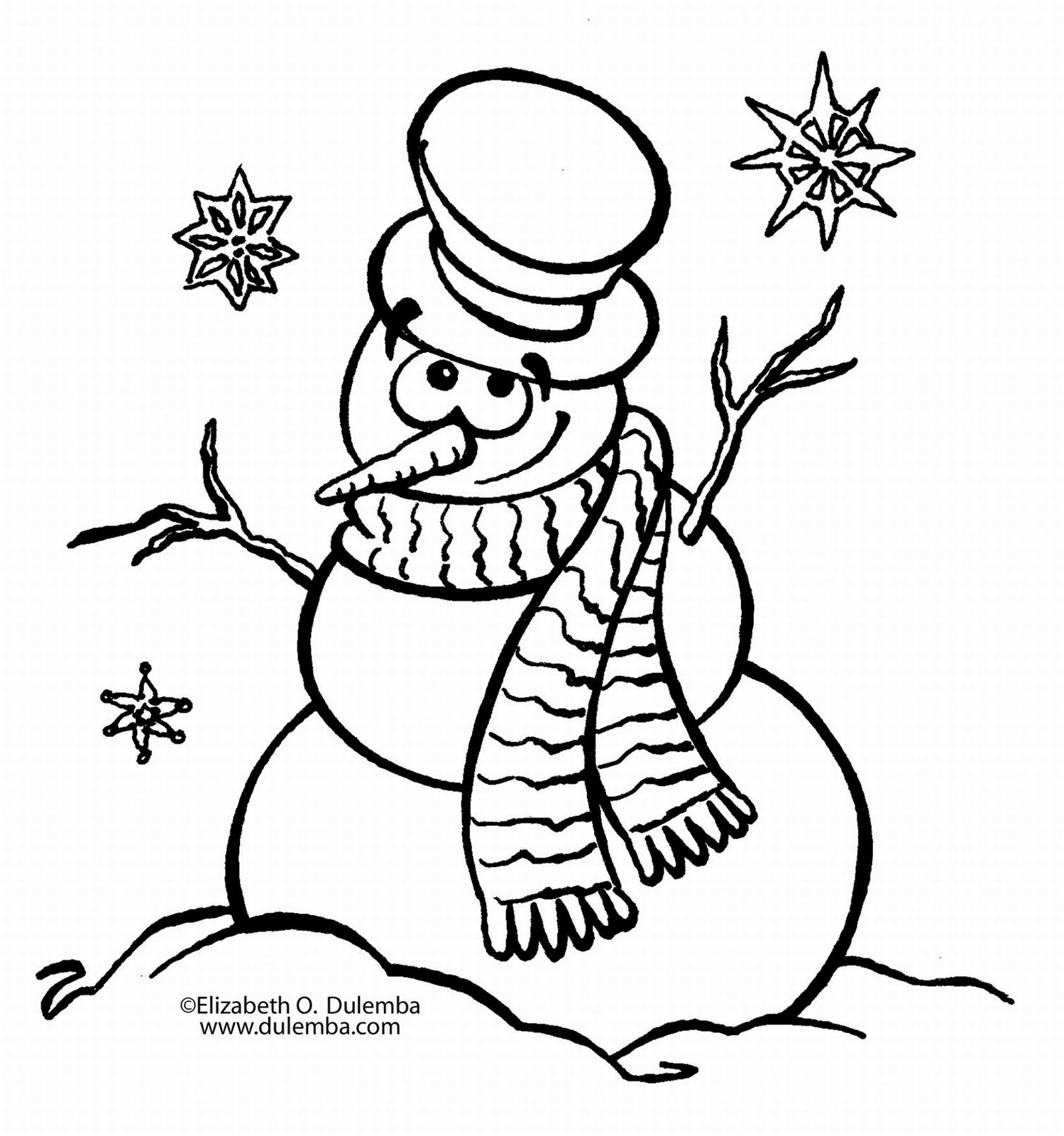 coloring pages and snowman - photo#14