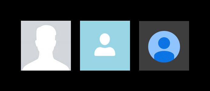 Os ícones que o Facebook, o Google + e o Skype usam quando os cidadãos não disponibilizam fotos