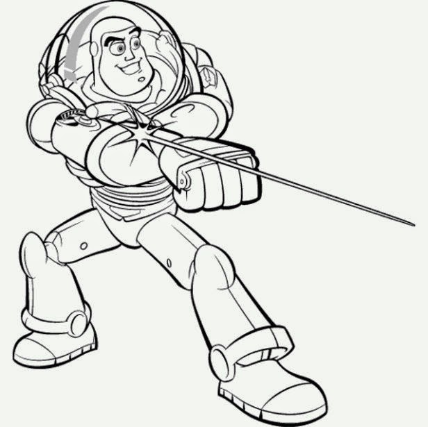 Maestra de Infantil: Toy Story y Buzz Lightyear. Dibujos para colorear.