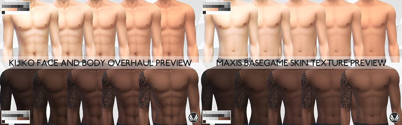 Sims  Natural Skin Colors