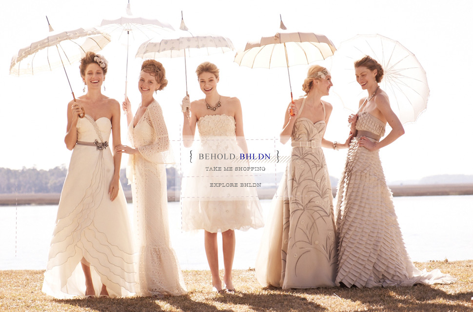 Paper lantern events behold beholden by anthropologie for Beholden wedding dresses