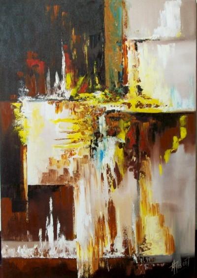 Cuadros abstractos modernos para sala obras de arte - Pinturas modernas para sala ...
