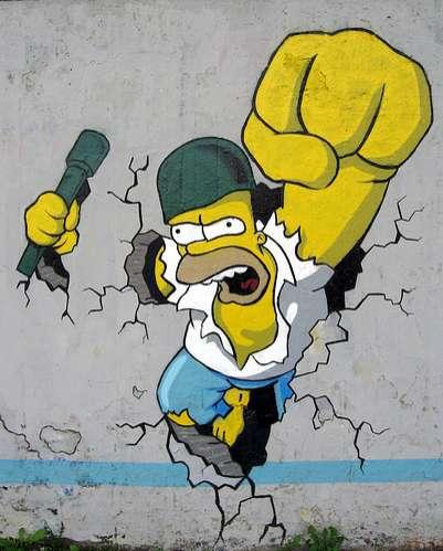 Grafitis geniales de los Simpsons