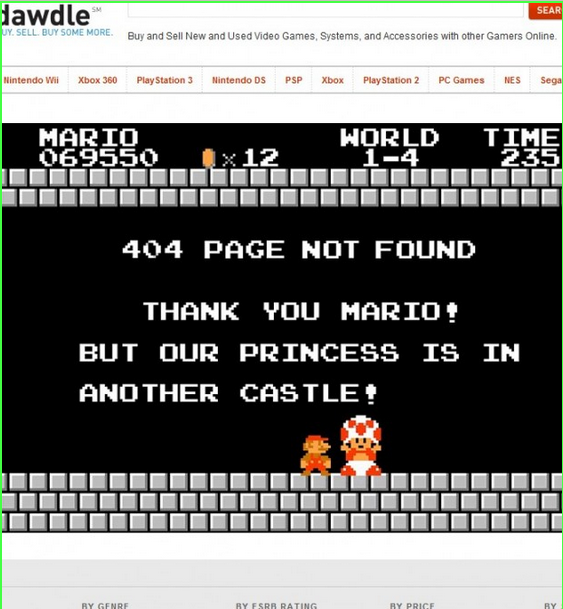 Dawdle, Mario, 404 page,